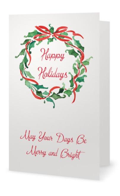 """CLASSICAL"" - Happy Holidays 5X7 (Single card)"
