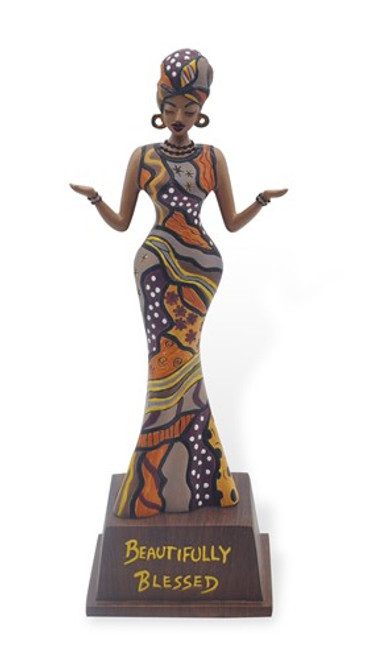 Beautifully Blessed Figurine Artwork by Cidne Wallace