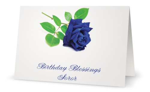 Happy Birthday - Zeta Birthday - Zeta Phi Beta Sorority, Inc. - 5 x 7 Greeting Card