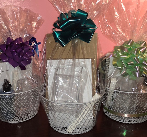 Gift baskets - Baskets for all occasions Personal Gift Baskets - Sorority Gift Baskets - Bridal Gift Baskets - Retirement Gift Baskets - Birthday Gift Baskets - Wedding gift baskets