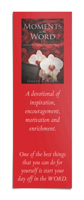 Bookmarks -  Moments in the Word - books - reading -  tassel - vinyl cover