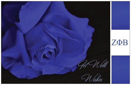 Get Well  Rose - Blue Rose - ZETA Get Well - Zeta phi Beta Get Well - Zeta Get Well - Zeta Phi Beta - Zeta Woman - Zeta - Zeta Cards - Zeta Phi Beta Sorority, Inc.  - Zeta - Zeta Get Well