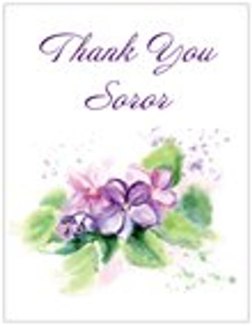 Violets - Delta Thank You - Center African Violet - African Violet - Delta Note cards - Delta Sigma Theta - Red Delta Symbols