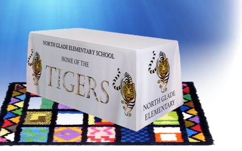 School Table Covers - Table Covers -  - Customized School Banners - School Banners - Educational banners - Mascot Banners - School Mascot