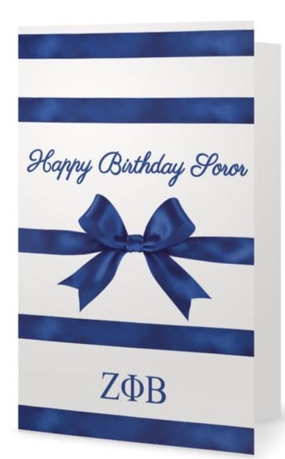 Zeta Phi Beta Birthday - Zeta Phi Beta Birthday Greeting Card - Zeta Gift Bow - Zeta Birthday - Zeta Phi Beta Sorority, Inc.