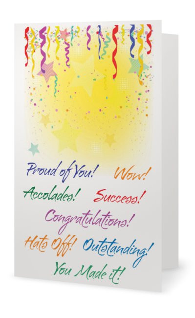 Greeting Card Graduates Congratulations Graduation Congrats