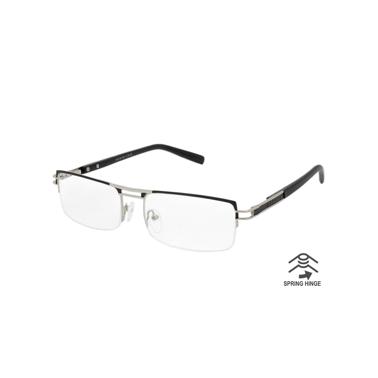 0a5f107ee Wholesale Assorted Colors Metal Spring Hinge Semi-Rimless Readers ...