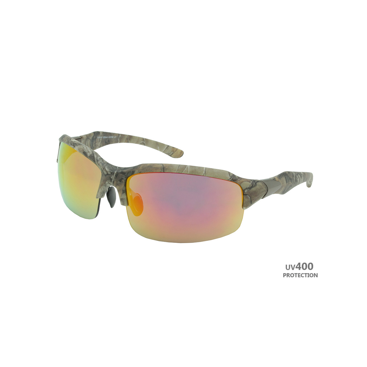 b733ca63daa8 Sport Sunglasses Real Tree Camo Frame Copper Lens Gunmetal on Temple RXS07RT