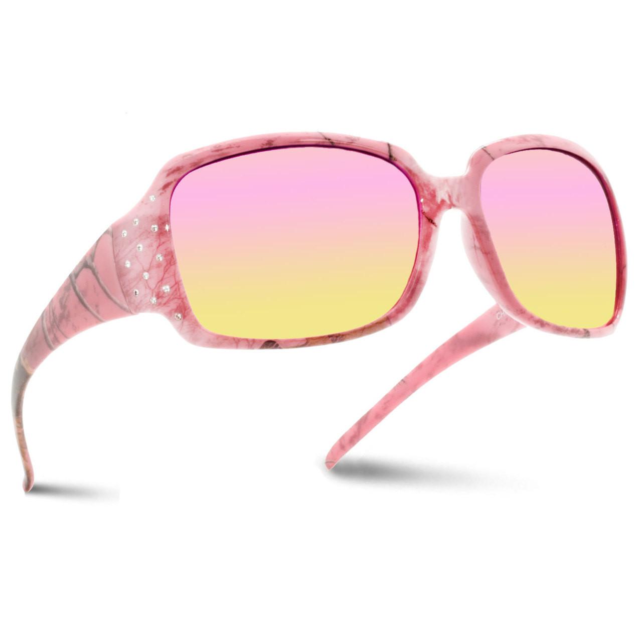 c0af10cb594 Wholesale Assorted Colors Pink RealTree Camo Pattern Plastic UV400 Sport  Wrap Sunglasses Womens Bulk