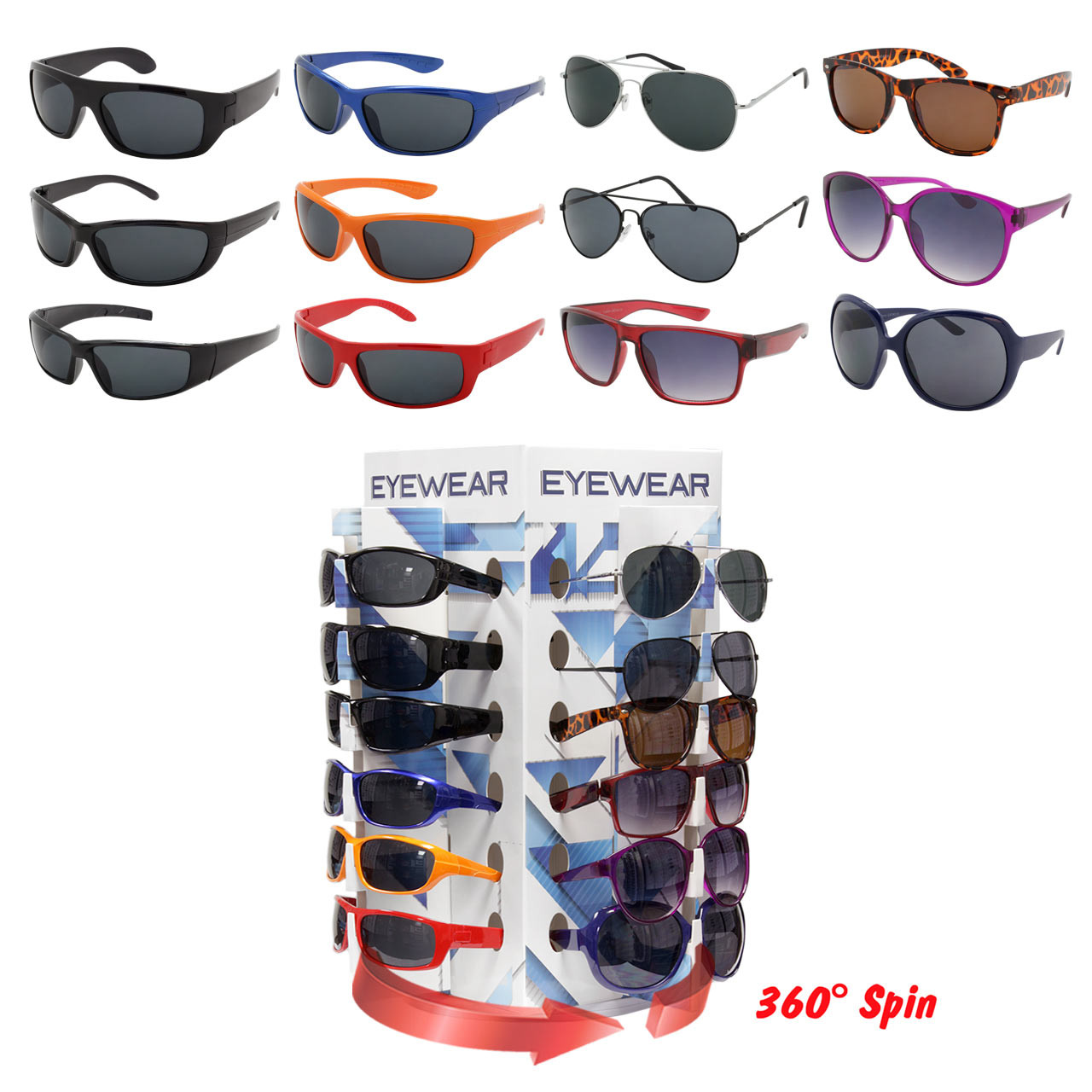 800693b76926 Assorted Adult Sunglasses With Counter Display