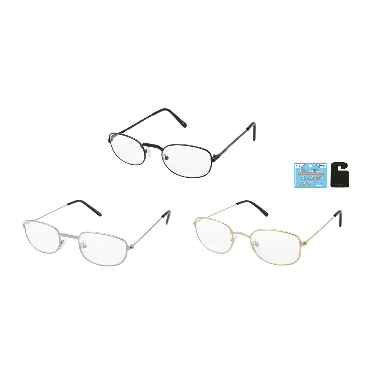 2aef943c42be Assorted Metal Reading Glasses in Single Diopters or Powers