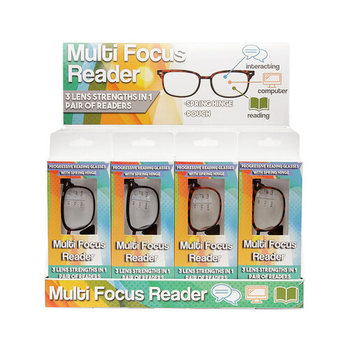 45173c23cb4 ... Wholesale Multicolor Plastic Multifocus Reader Cardboard Display 24  Pieces