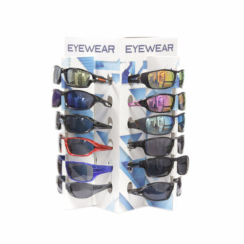 703dd594f55c8 Wholesale Bulk Sunglasses Cardboard 24 place rack Counter Display