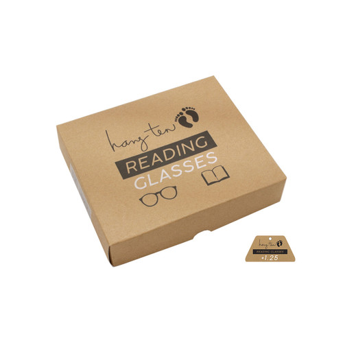 Wholesale Hang Ten Single Power Wood Acrylic Square Readers Unisex Bulk | 1  Inner with Tags | HTR01B