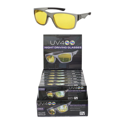 39d09a9db3 Wholesale Yellow Color Polycarbonate UV400 Sport Glasses Cardboard Counter  Display 12 Pieces