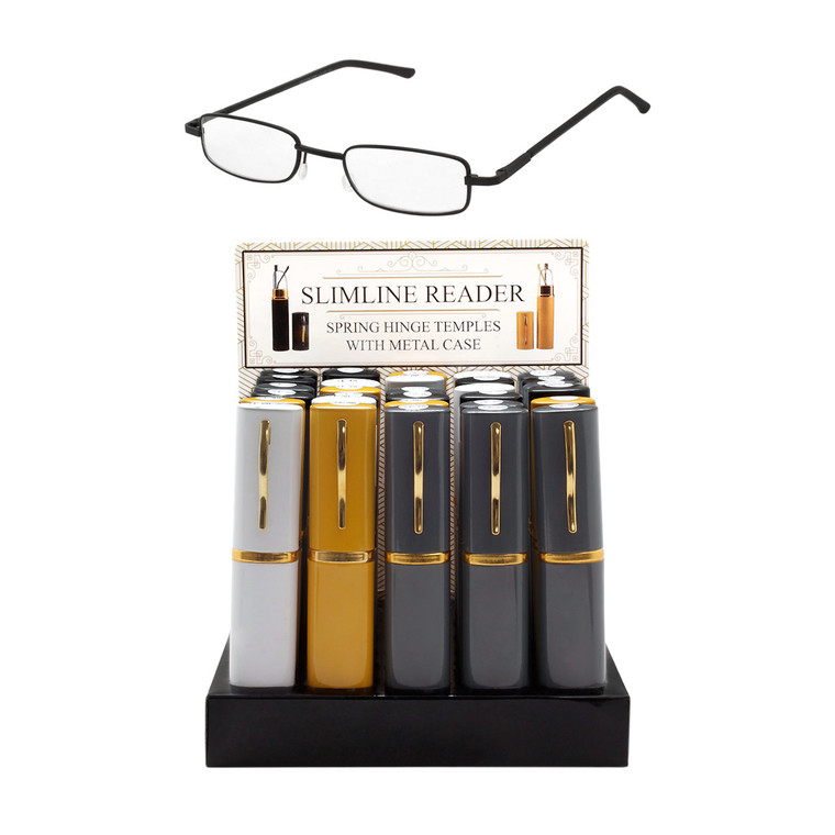 Unisex Slim-Line Readers With Spring Hinge And Counter Display