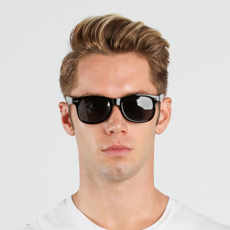 Wholesale Black Plastic Polarized Classic Square Sunglasses Unisex Bulk | 1Dozen with Tags | W11BSPOL