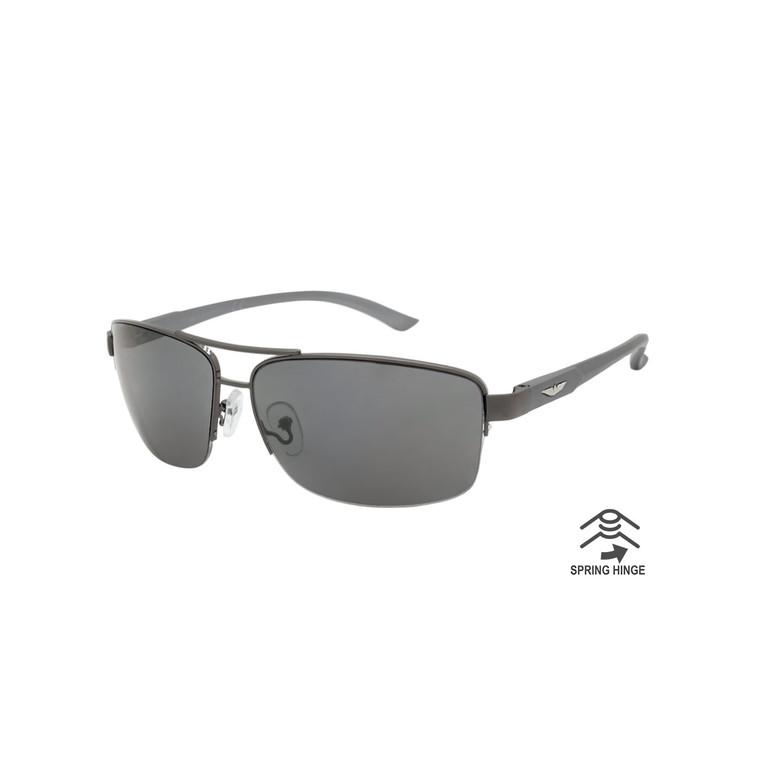 Men's Aluminum Aviator Sunglasses With Spring Hinge