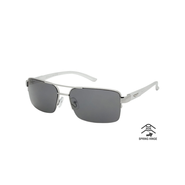 Men's Aluminum Aviator Sunglasses With Spring Hinge