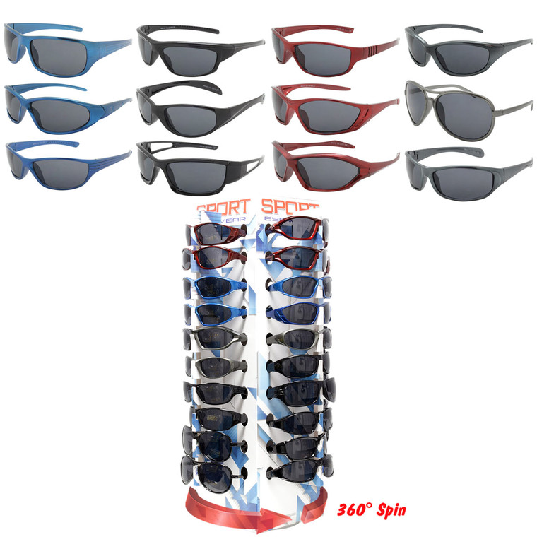 Men's Sport Sunglasses With Counter Display