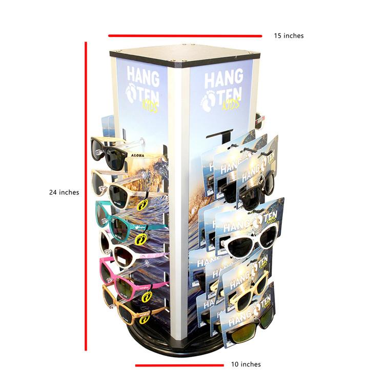 Wholesale Multicolor Hang Ten Kids Cardboard Counter Display Holds 44 Pieces | HTKCD