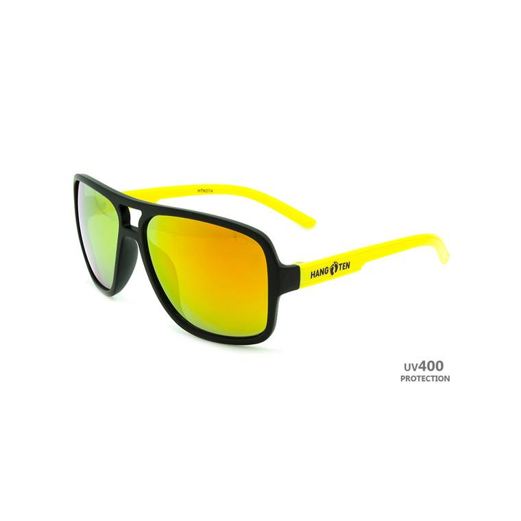 Wholesale Multicolor Plastic Hang Ten Kids UV400 Aviator Sunglasses Childrens Bulk | HTK07A