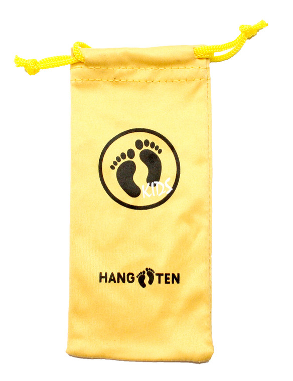 Wholesale Yellow Microfiber Hang Ten Kids Sunglasses Pouch | HTKPOUCH