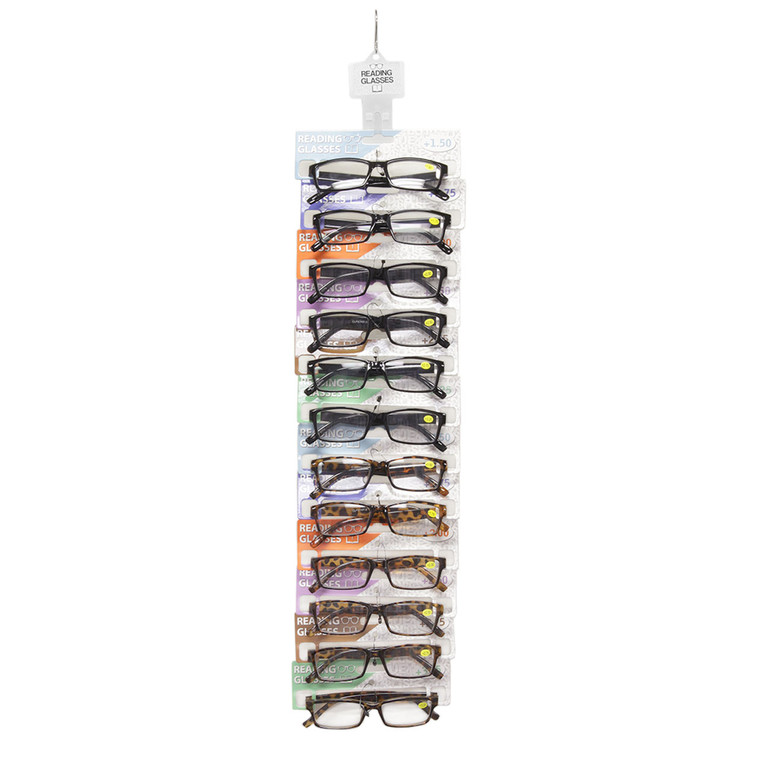 Cheetah Clip Strip With Readers Wholesale Multicolor Plastic Clip Strip with Assorted Styles