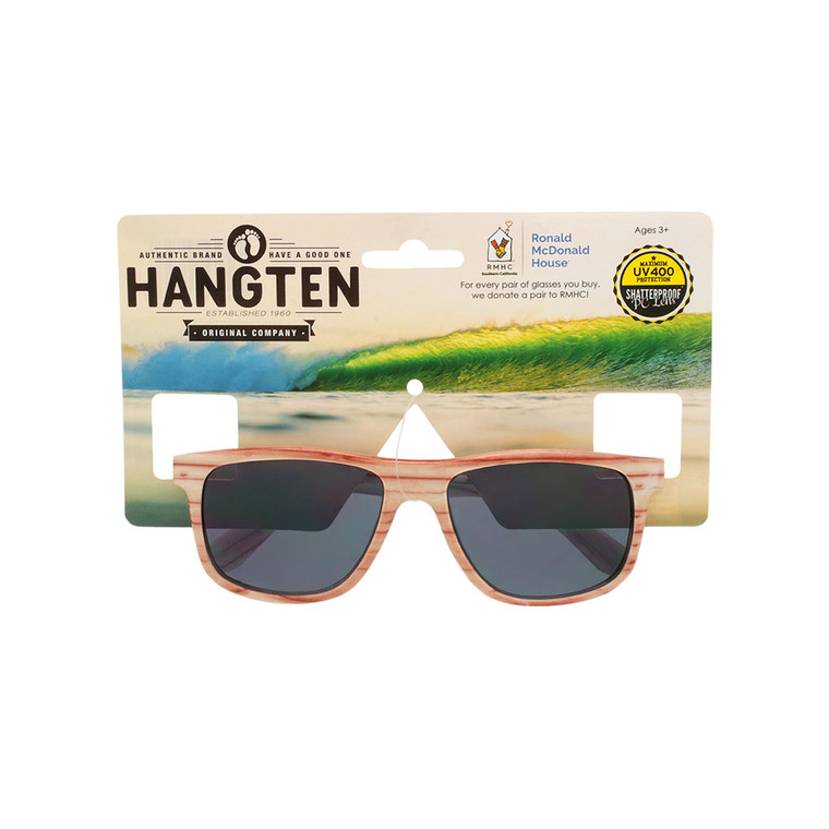 Hang Ten Kids Wood Look Sunglasses With Hang Card