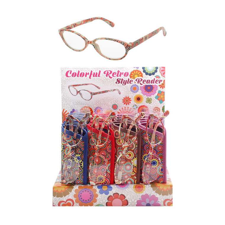 Colorful Retro Style Readers Counter Display Front