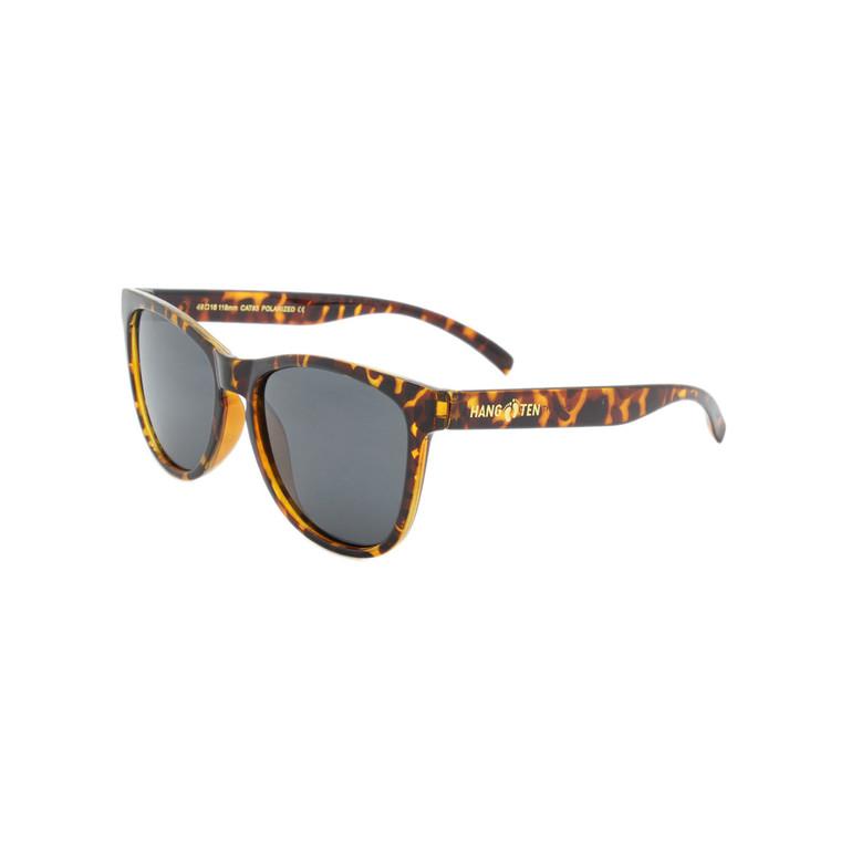 Sunglasses with Polarized Lenses and Plastic Polished Tortoise  Frames
