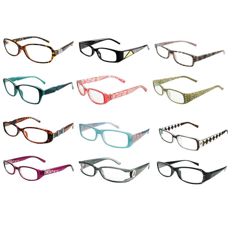 12 Assorted Style Readers in Single Powers
