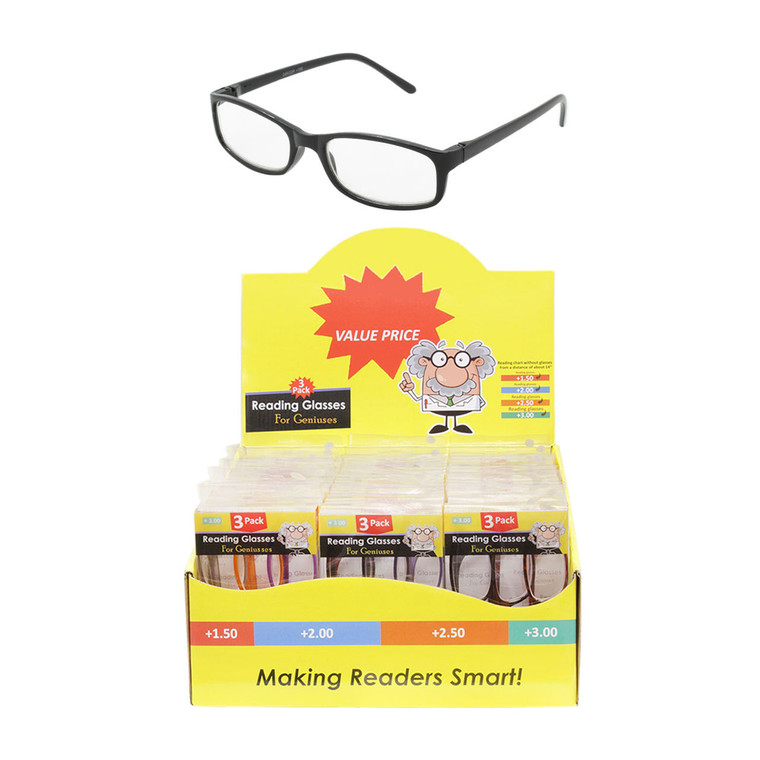 Unisex Triple Pack Readers With Display