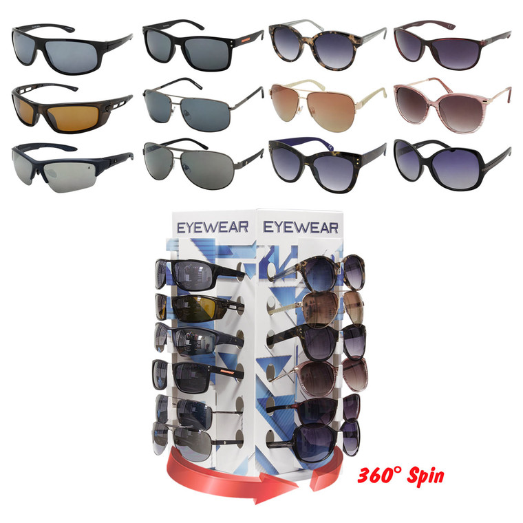 36 pcs Foster Grant™ Assorted Sunglasses With 24 pcs Counter Display