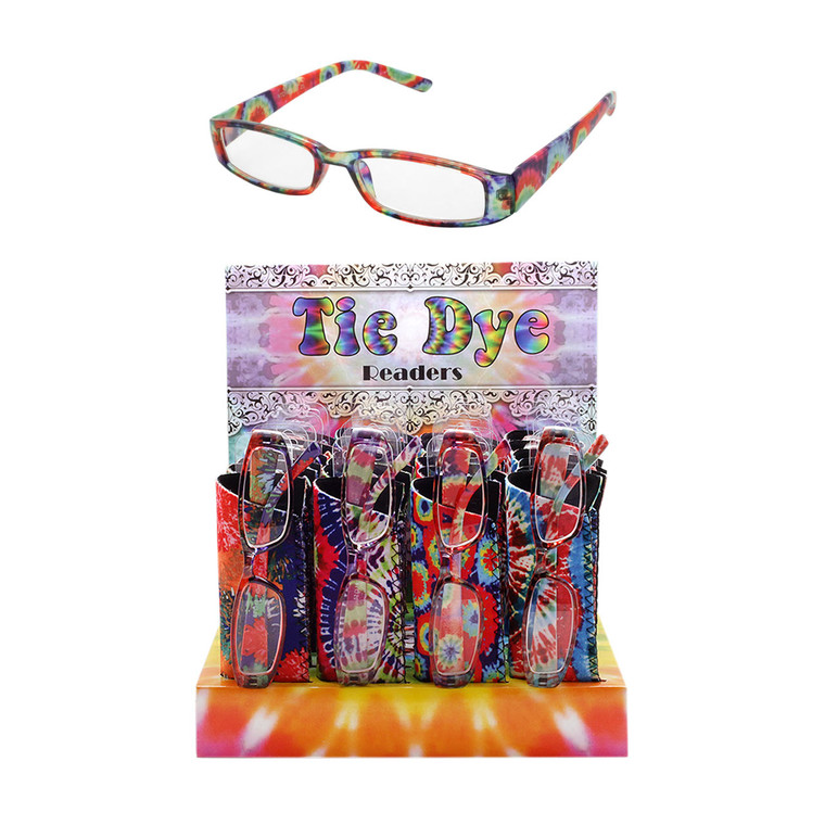 Women's Tie Dye Readers + Display