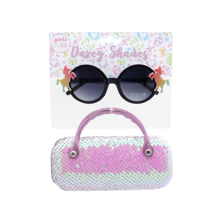 Dazey Shades Tween Sunglasses + Reversible Sequin Case