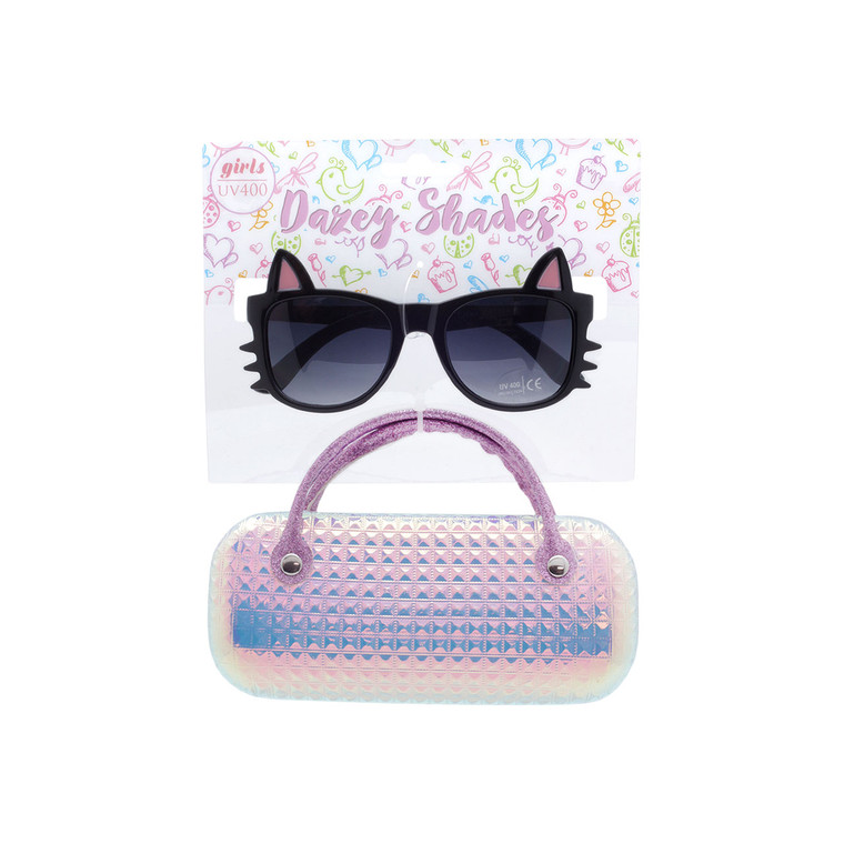 Dazey Shades Tween Cat Sunglasses + Iridescent Case