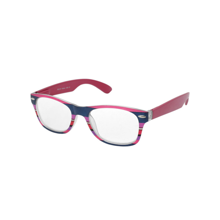Women's Multi Color Stripe Reading Glasses MIRG30 A