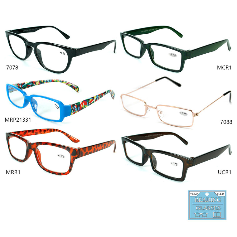 Prop 65 Unisex Assorted 6 Style Readers