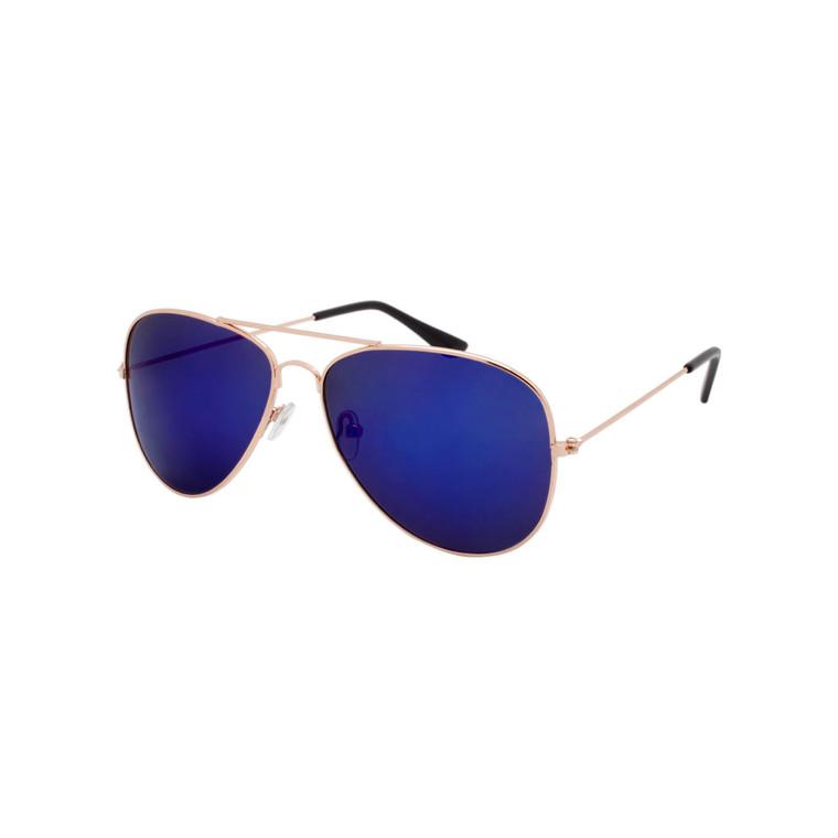 Unisex Aviator Mirror Lens Sunglasses
