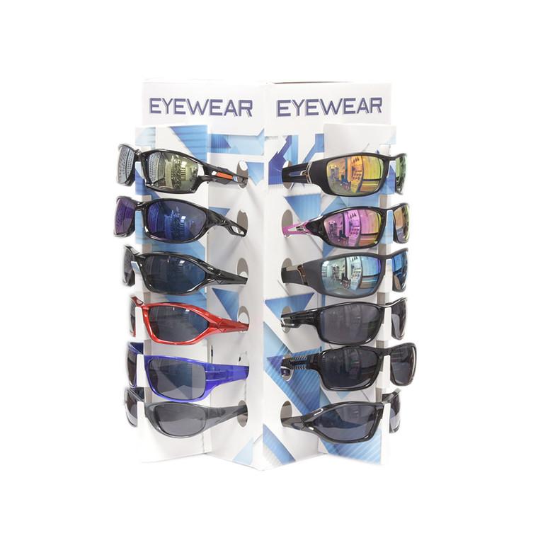 Wholesale Bulk Sunglasses Cardboard 24 place rack Counter Display