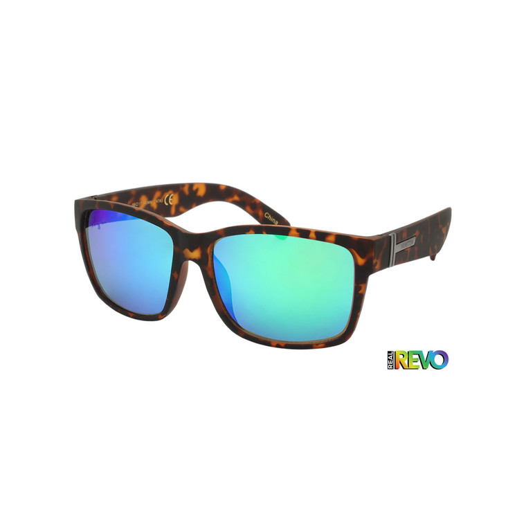 Hang Ten Green Revo Soft Finish Matte Adult Sunglasses