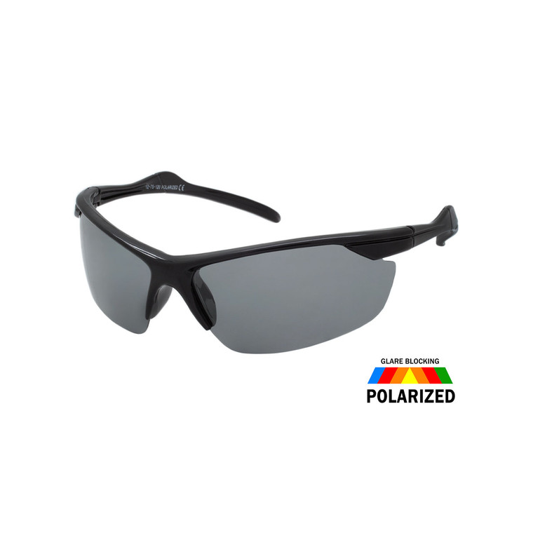 Men's Semi-Rimless Sport Polarized Sunglasses