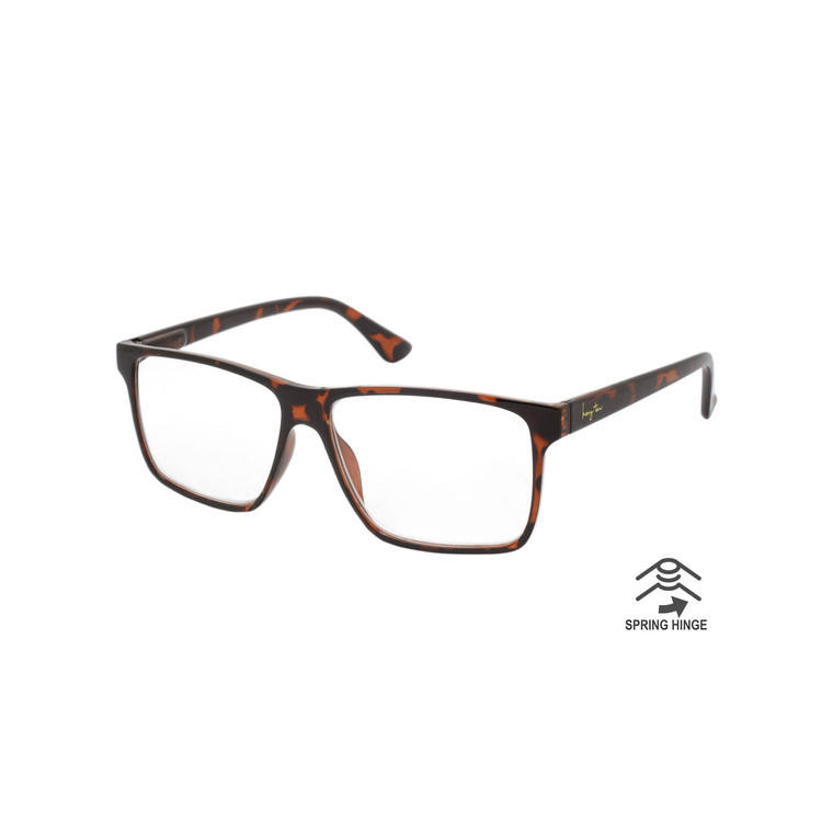 Single Power Spring Hinge Tortoise Hang Ten Adult Readers