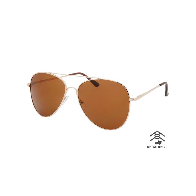 Unisex Aviator Spring Hinge Sunglasses