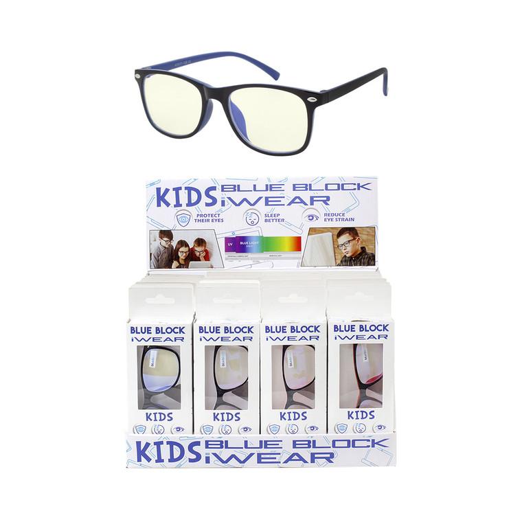 Kids Blue Block Glasses + Display