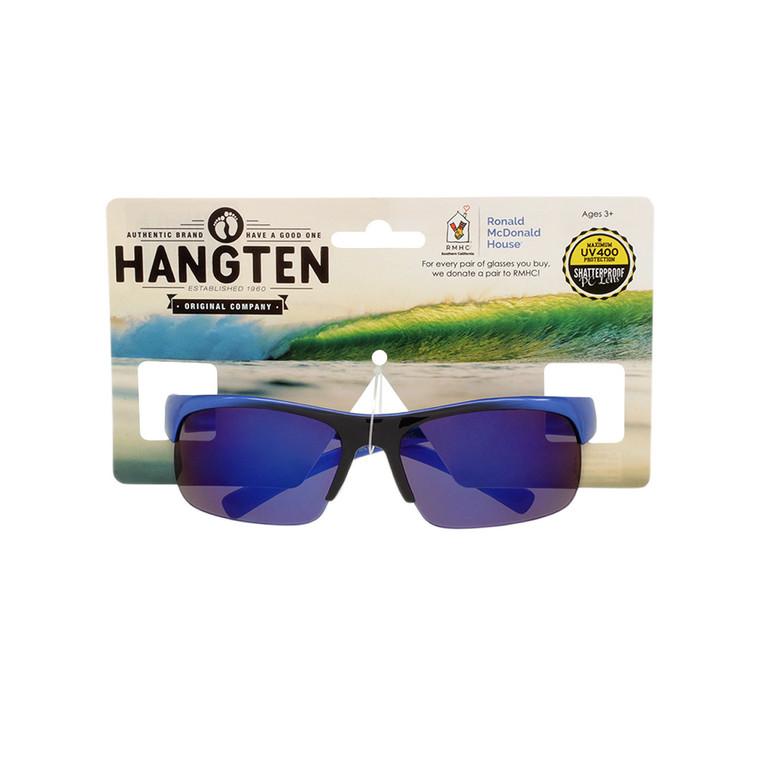 Hang Ten Kids Sport Blue Mirror Lens Sunglasses with Hang Card