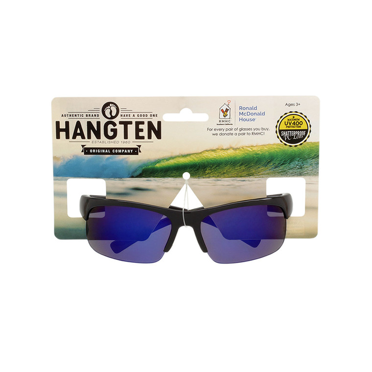 Hang Ten Kids Black Sport Sunglasses with Hang Card