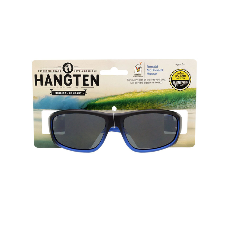 Hang Ten Kids Blue Sport Sunglasses with Hang Card