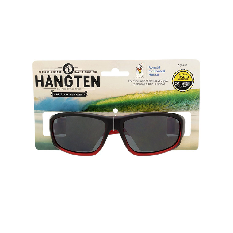 Hang Ten Kids Red Sport Sunglasses with Hang Card